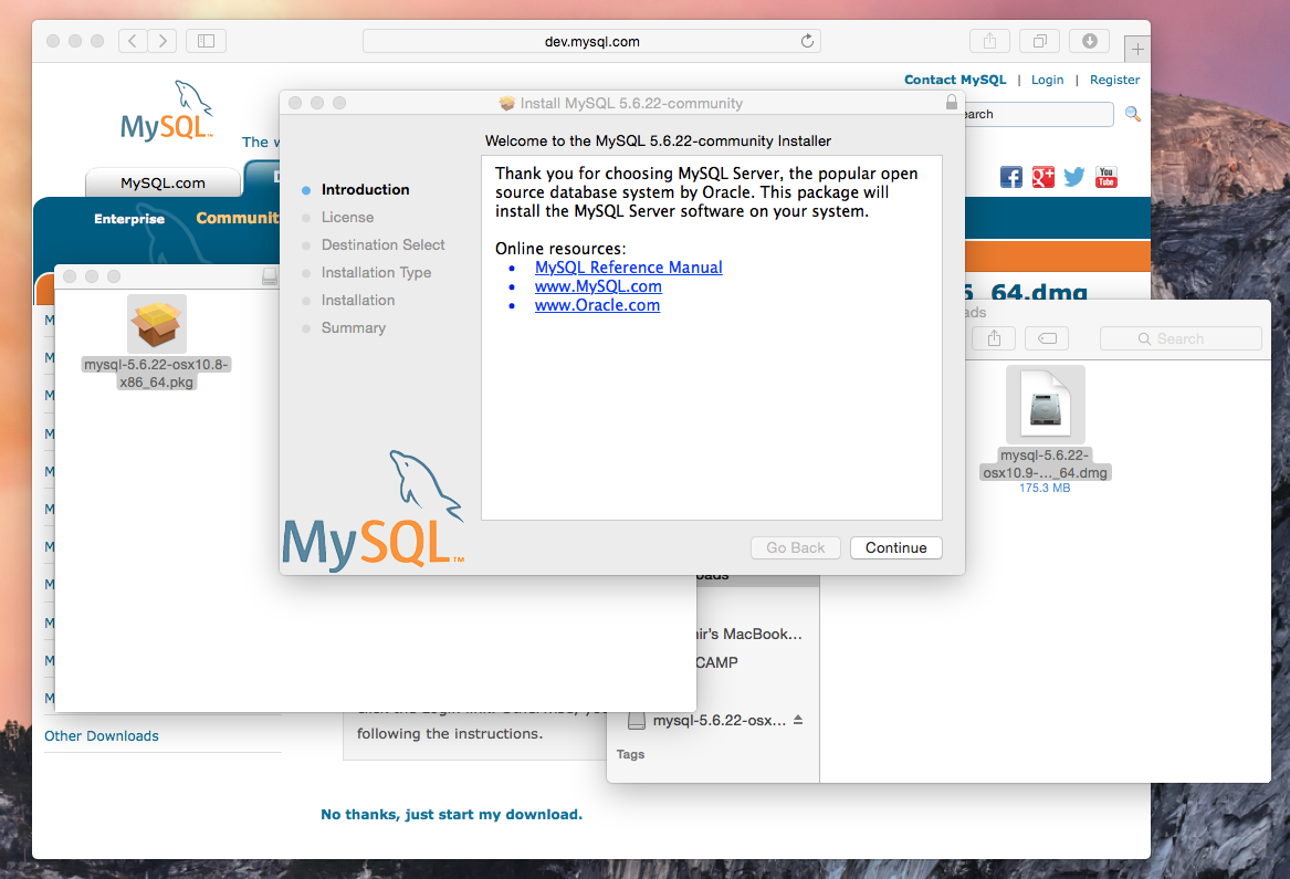 How install MySQL server on Mac OS - Vladster