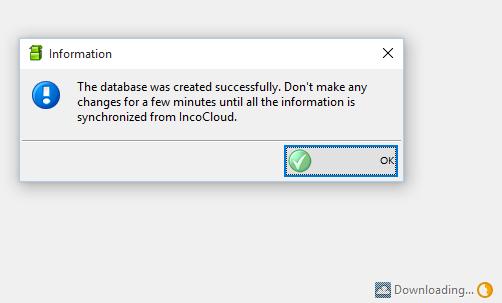 downloadingdatabase